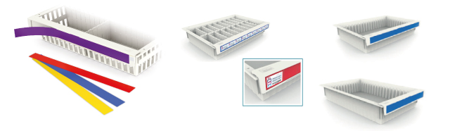 coloured-handles-hospital-storage