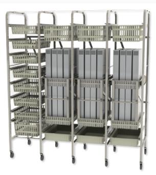 catheter box rack